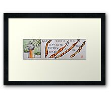 Buddha and Pods Framed Print
