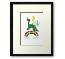 """""""Follow Your Dreams"""" Mystical Dinosaur Framed Print"""