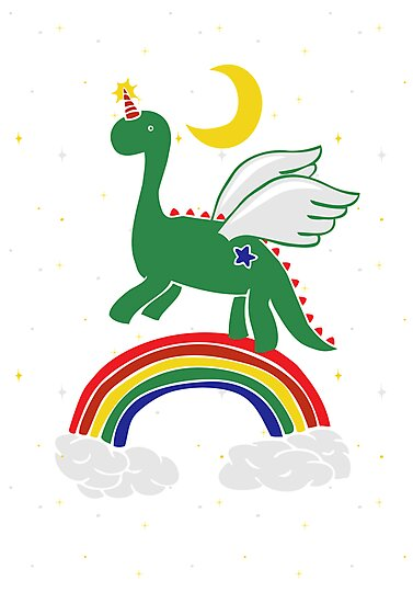 """Follow Your Dreams"" Mystical Dinosaur by Amy Grace"