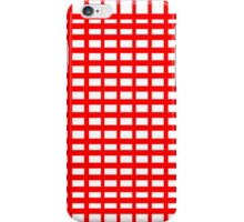 Red/White iPhone Case/Skin