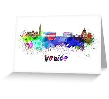 Venice skyline in watercolor Greeting Card