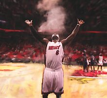 Lebron James Chalk Toss by art-hammer