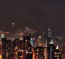 Hong Kong at night by KKooPhotography