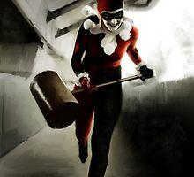 Harley Quinn Painting by art-hammer