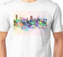 Vienna skyline in watercolor background Unisex T-Shirt