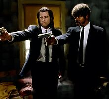 Pulp Fiction Vincent and Jules by art-hammer