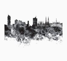 Vienna skyline in black watercolor Kids Tee