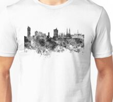 Vienna skyline in black watercolor Unisex T-Shirt