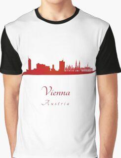 Vienna skyline in red Graphic T-Shirt