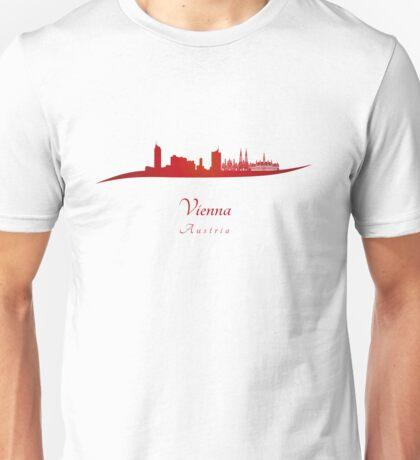 Vienna skyline in red Unisex T-Shirt