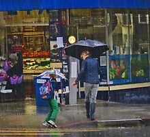 Mother and Daughter in the Rain  by David Denny