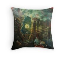 The double-slit experiment in antiquity. Throw Pillow