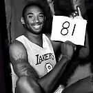 Kobe Bryant Black and White 81 Points by art-hammer