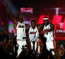 Miami Heat's Big Three by art-hammer