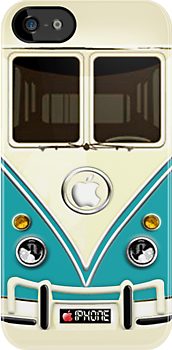 Blue Volkswagen VW cartoons iphone 5, iphone 4 4s, iPhone 3Gs, iPod Touch 4g case, Available for T-Shirt man and woman by Pointsale store.com