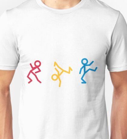 Dancing Stickmen Unisex T-Shirt