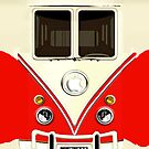 Red Volkswagen VW cartoons iphone 5, iphone 4 4s, iPhone 3Gs, iPod Touch 4g case by Pointsale store.com