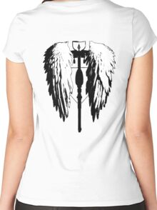 Crossbow wings Women's Fitted Scoop T-Shirt