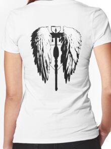 Crossbow wings Women's Fitted V-Neck T-Shirt