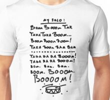 Cheat Sheet for drummers Unisex T-Shirt