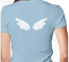 Cutesy wings (blue) Womens Fitted T-Shirt