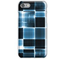 Grey black and White Blue iPhone Case/Skin
