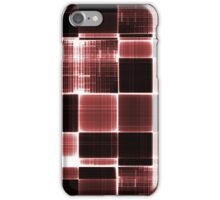 Grey black and White Red iPhone Case/Skin