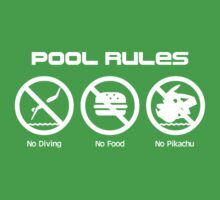 Pool Rules Kids Tee