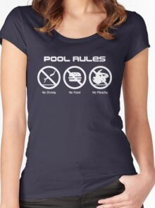 Pool Rules Women's Fitted Scoop T-Shirt