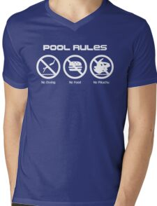 Pool Rules Mens V-Neck T-Shirt