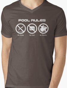 Pool Rules Mens V-Neck T-Shirt