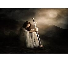 girl with sword Photographic Print