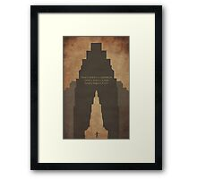 Constants (alternate quote) Framed Print