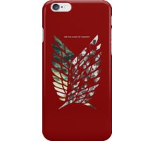 Attack on titan logo iPhone Case/Skin