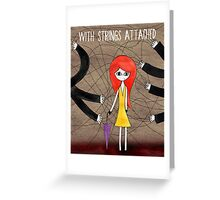 """Cover """"With strings attached"""" Greeting Card"""