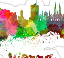 Vienna skyline in watercolor Sticker