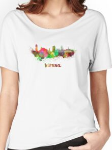 Vienna skyline in watercolor Women's Relaxed Fit T-Shirt