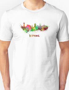 Vienna skyline in watercolor Unisex T-Shirt
