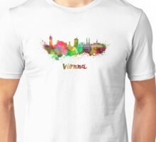 Vienna skyline in watercolor Unisex T-Shirt