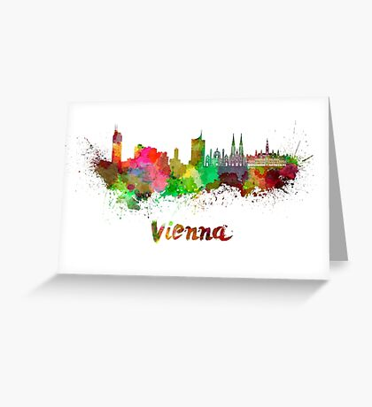 Vienna skyline in watercolor Greeting Card
