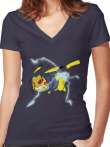 Pikachidori Women's Fitted V-Neck T-Shirt