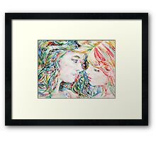 TWO GIRLS / WATERCOLOR PORTRAIT Framed Print