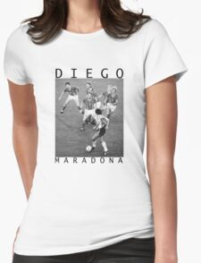Diego Maradona Womens Fitted T-Shirt