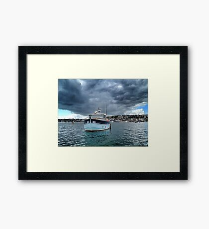 There's a Storm Coming Framed Print