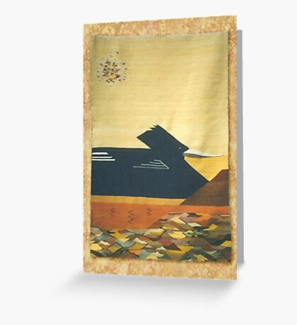 Water Bird in Desert Greeting Card