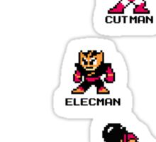 Megaman and Bosses 1 (with black text) Sticker
