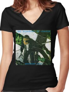 Werewolf of London (Midnight Rags) Women's Fitted V-Neck T-Shirt