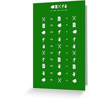 Rock Paper Scissors Lizard Spock Greeting Card