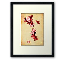 Buffy blood poster Framed Print
