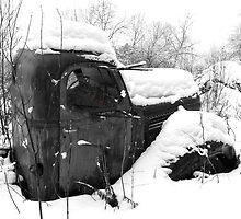 Dad's retired hay truck 2  by Carolyn Clark